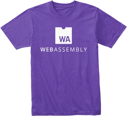Purple T-Shirt with WebAssembly Logo